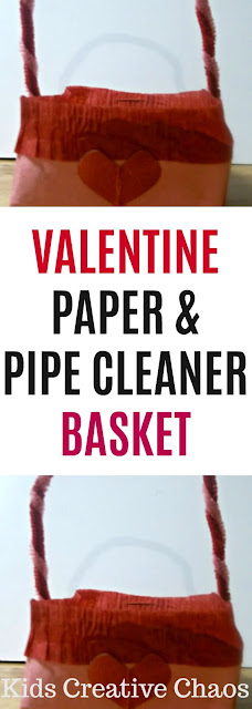 Paper Valentine Treat Basket