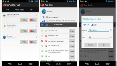 Menggunakan Aplikasi tambahan Noroot Firewall