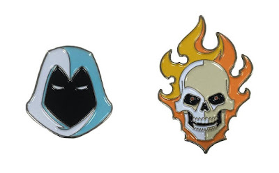 Marvel Knights Ghost Rider & Moon Knight Portrait Enamel Pins by Tom Whalen & Mondo