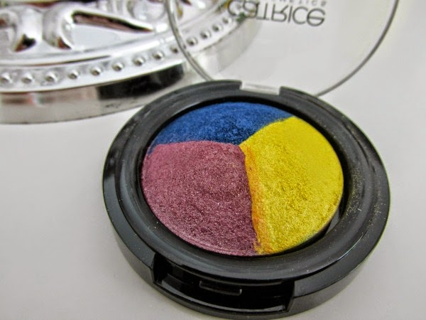Catrice Carnival of Colours LE - baked eyeshadow trio gelb,lila,blau Reviews, Photos, Swatches