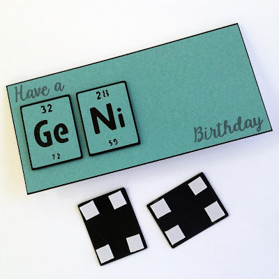 Tutorial - How to Print & Cut successfully on dark cardstock or other media. Illustrated making a Genius Card using letters form the Periodic Table. Designed by Janet Packer (http://CraftingQuine.blogspot.co.uk) for the Silhouette UK Blog.