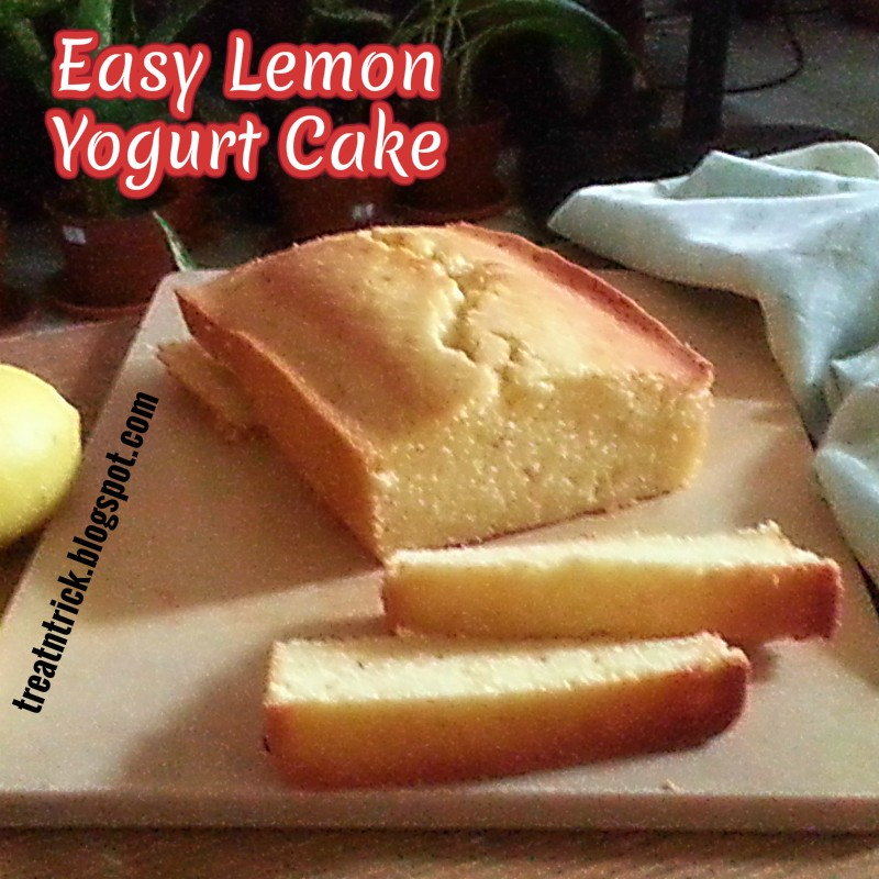 Easy Lemon Yogurt Cake Recipe @ treatntrick.blogspot.com
