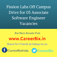 Fission Labs Off Campus Drive for 05 Associate Software Engineer Vacancies