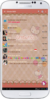 BBM HELLO KITTY MOD  2.11.0.18