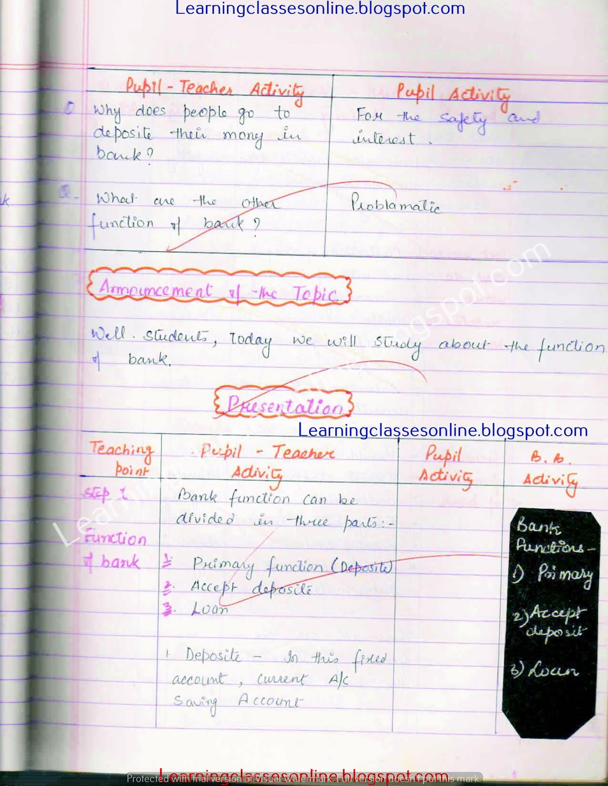 B.Ed economics lesson plan file free download