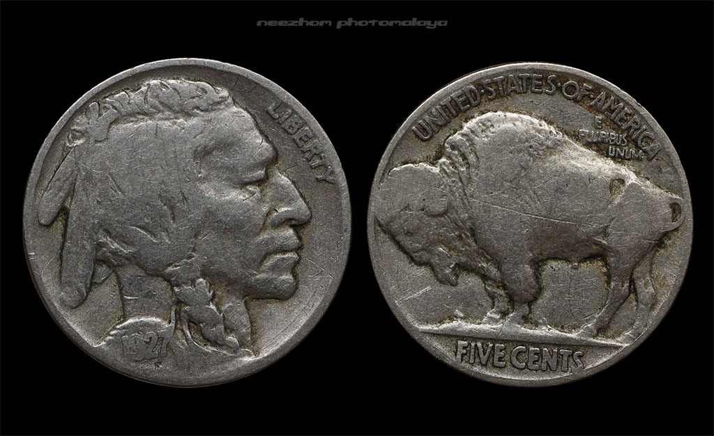 Buffalo nickel Five cents 1927 coin