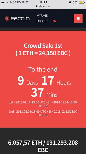Nhận miễn phí token EBcoin (EBC)