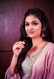 Keerthy Suresh in Pink Dress for Pandem Kodi 2 Promotions 2