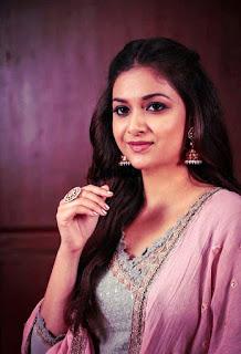 Keerthy Suresh in Pink Dress for Pandem Kodi 2 Promotions 2