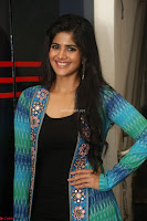 Megha Akash in a beautiful Anarkali dress with Long Jacket at LIE success meet ~  Exclusive Celebrities Galleries 020.JPG
