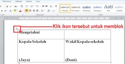 Cara Membuat Format Tanda Tangan Di Dokumen Microsoft Word 2010
