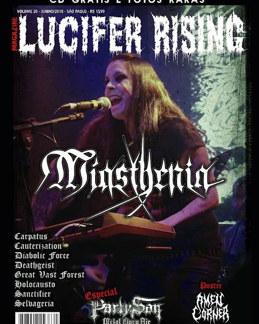 Miasthenia: banda é capa da nova edição da revista Lucifer Rising