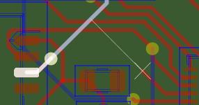 freeroutingでKiCadのPCBを自動配線する時に、手動で最後のひと