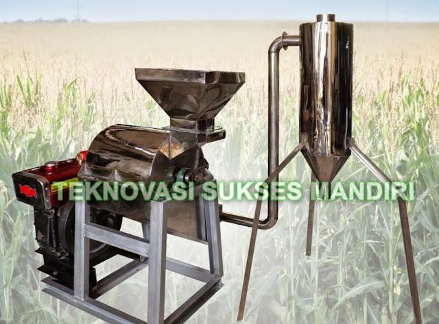 Mesin penghalus biji jagung