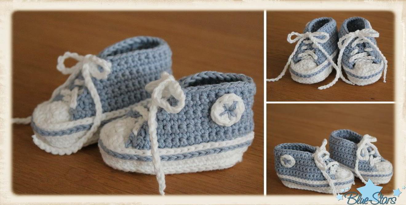 Blue Stars Anleitung Für Baby Chucks