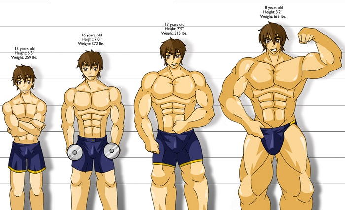 Muscle building training masturbation