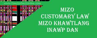 MIZO CUSTOMARY LAW