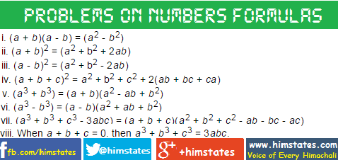 formulas-on-numbers