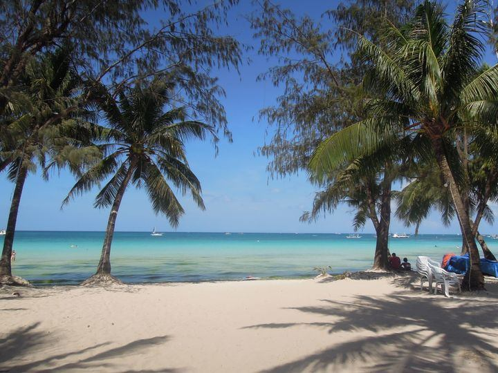 The beautiful white beach of Boracay