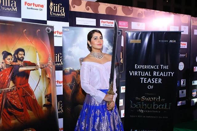 raashi khanna at Baahubali VR Zone at IIFA Utsavam Awards 2017