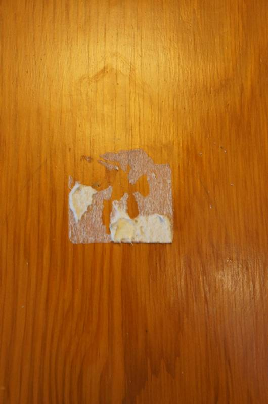 how to get rid of sticky residue on wood