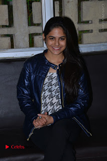 Actress Nanina Ganguly Stills in Black Tights with Vangaveeti Movie Team at Devi Theater  0035.JPG