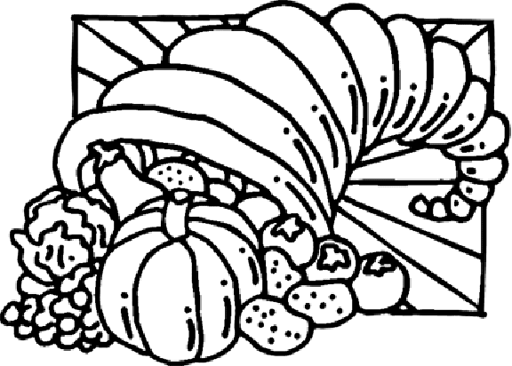 Free Coloring Pages: Thanksgiving Cornucopia Coloring Pages