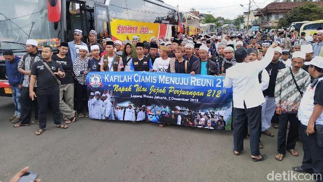 Massa Reuni Akbar 212 Asal Ciamis Siap Berangkat ke Jakarta