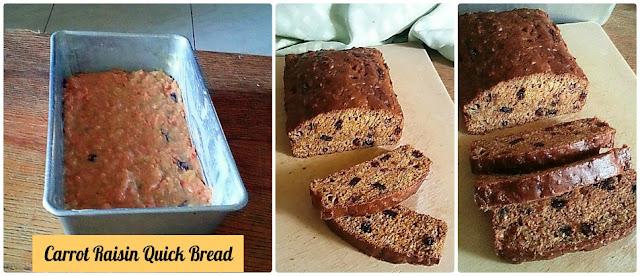 Carrot Raisin Quick Bread Recipe @ treatntrick.blogspot.com