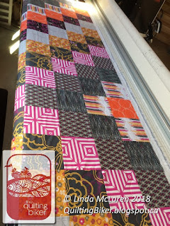 Flaunt on the quilting frame