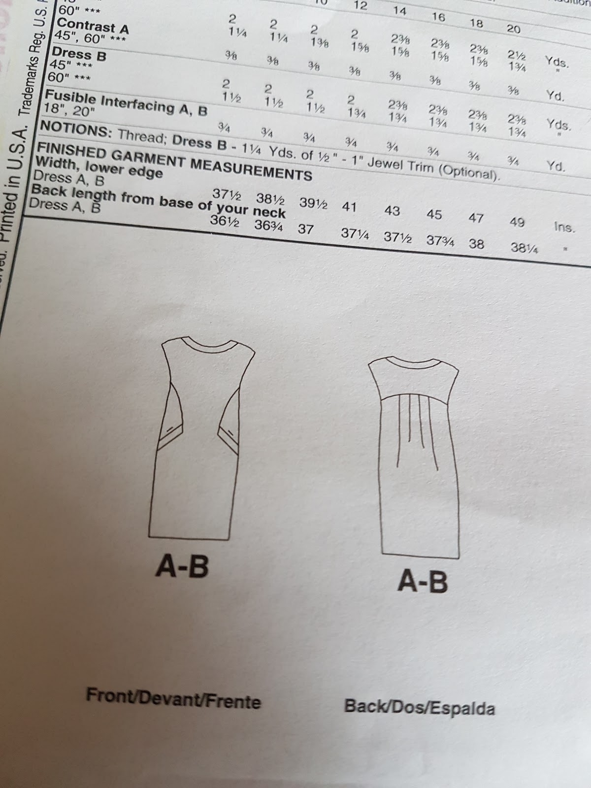c28a2be55786 It is a pull-over dress with side panels and pockets and some back pleats.  It is possible to make the pocket bands and neck in contrasting material or  put ...