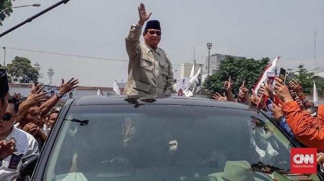 Prabowo Pakai Mobil Eks Donatur IS1S Saat Kampanye di Cianjur