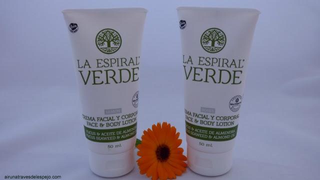 crema facial corporal limon espiral verde