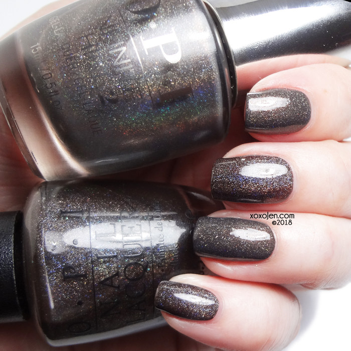 xoxoJen's swatch of OPI: My Private Jet 2007 and 2018