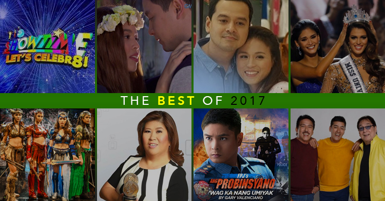 Most popular television shows in the Philippines for 2017.