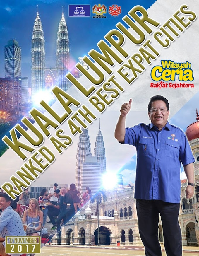 Kuala Lumpur Ranked 4th Best City For Expats In 2017 #Negaraku