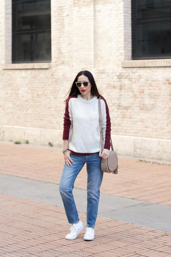 Blogger influencer Valenciana con outfit para andar porlas Fallas de Valencia