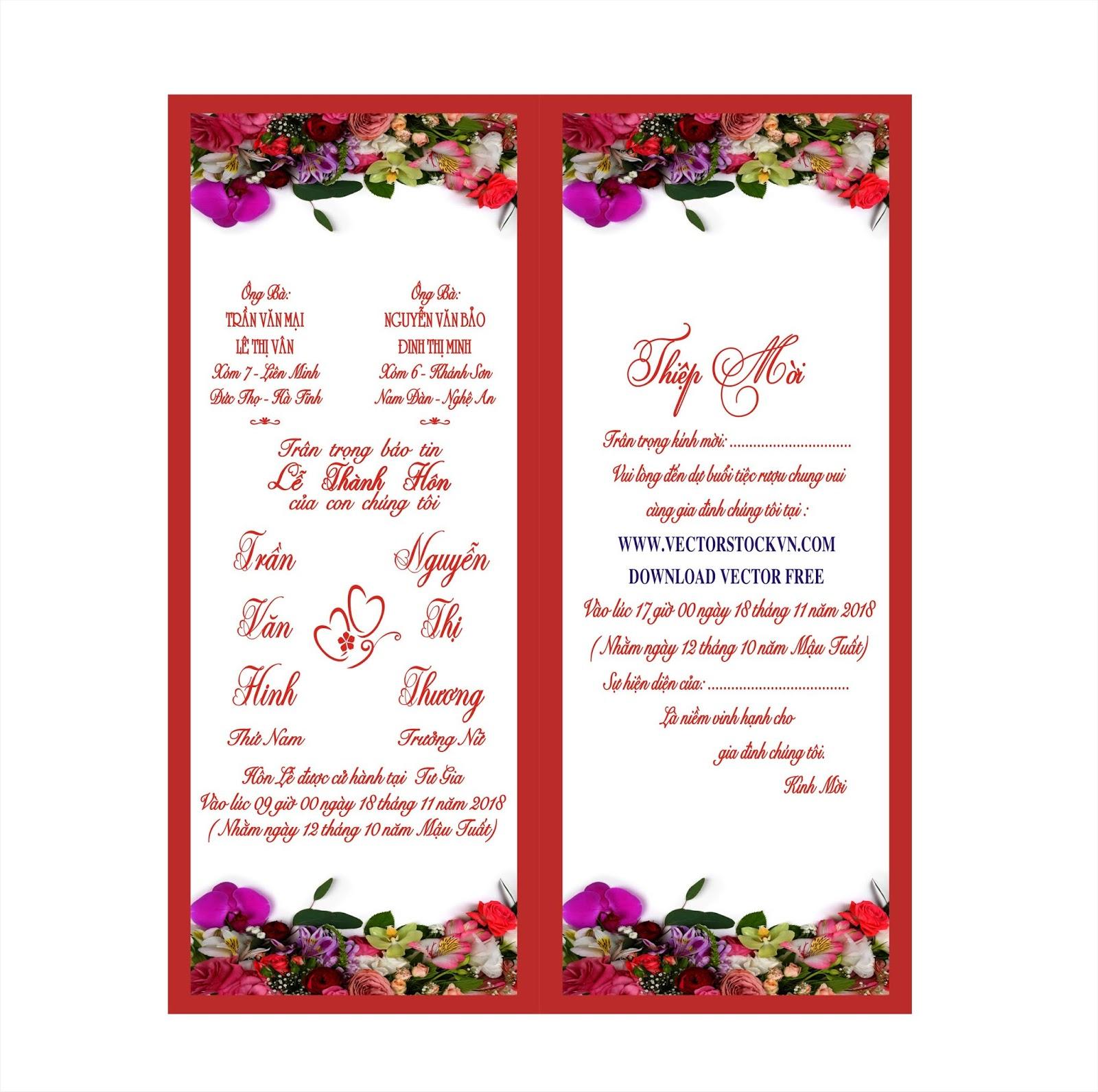 Thiệp cưới mỹ thuật free miễn phí