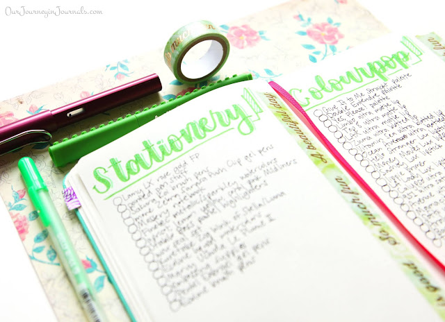 bullet journal stationery and colourpop wishlist