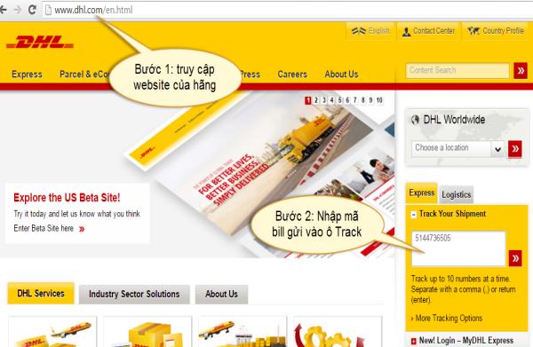 Hướng dẫn kiểm tra đơn hàng online qua dịch vụ chuyển phát nhanh quốc tế DHL