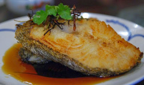 Spicy roasted cod fillet with delicious ginger sauce