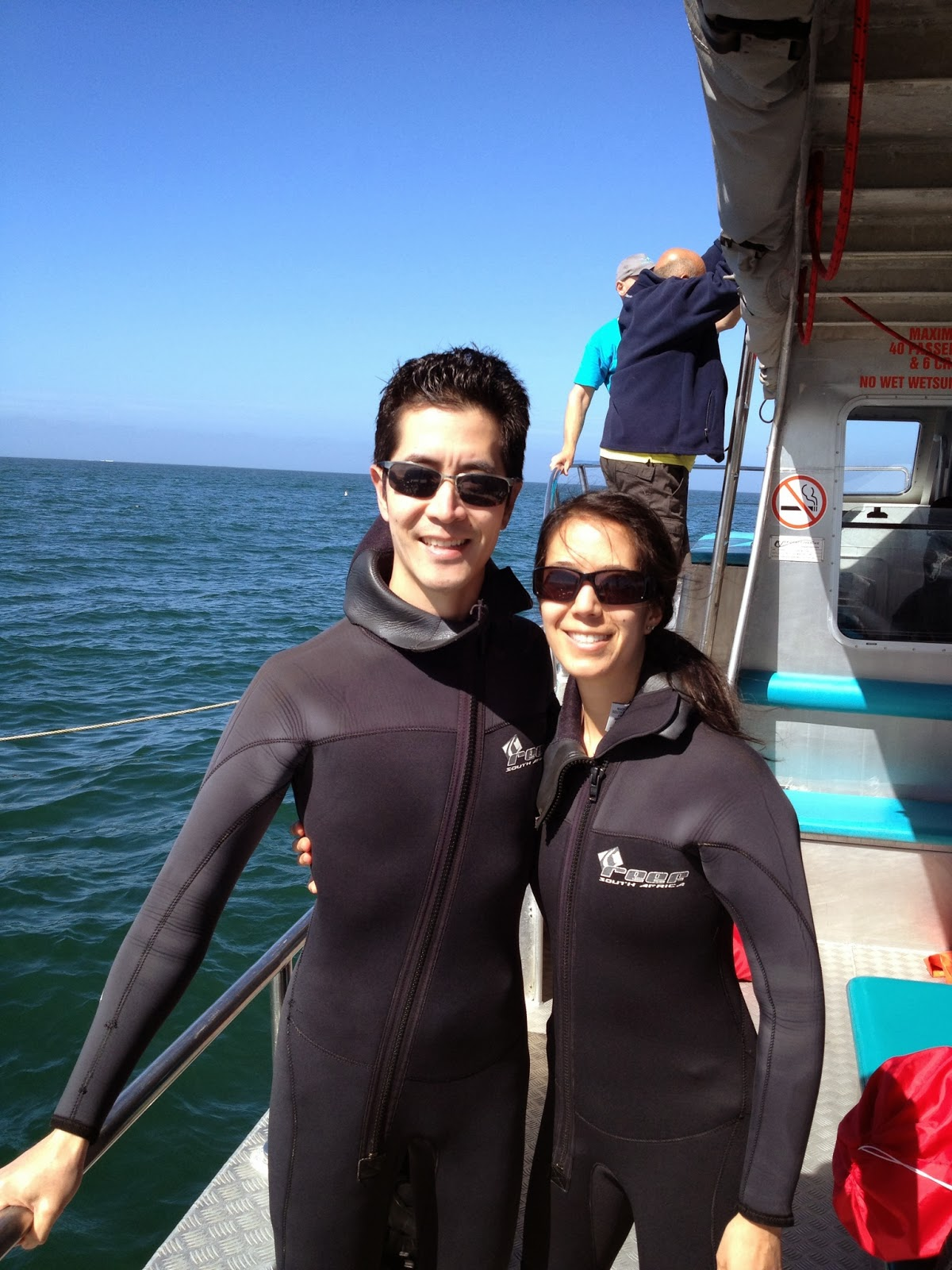 Kleinbaai - Getting suited up for our dive