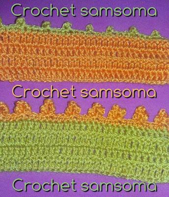 طريقة كروشيه غرزة البيكو العادية والثلاثية Crochet Picot Stitch