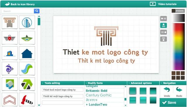 Thiết kế một logo công ty miễn phí tự thiết kế logo online đẹp free