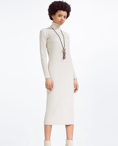 Vestido blanco largo ibicenco zara