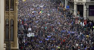 Unjuk Rasa di Spanyol, Tuntut Pemerintah Berikan Suaka Bagi Pengunggsi Suriah