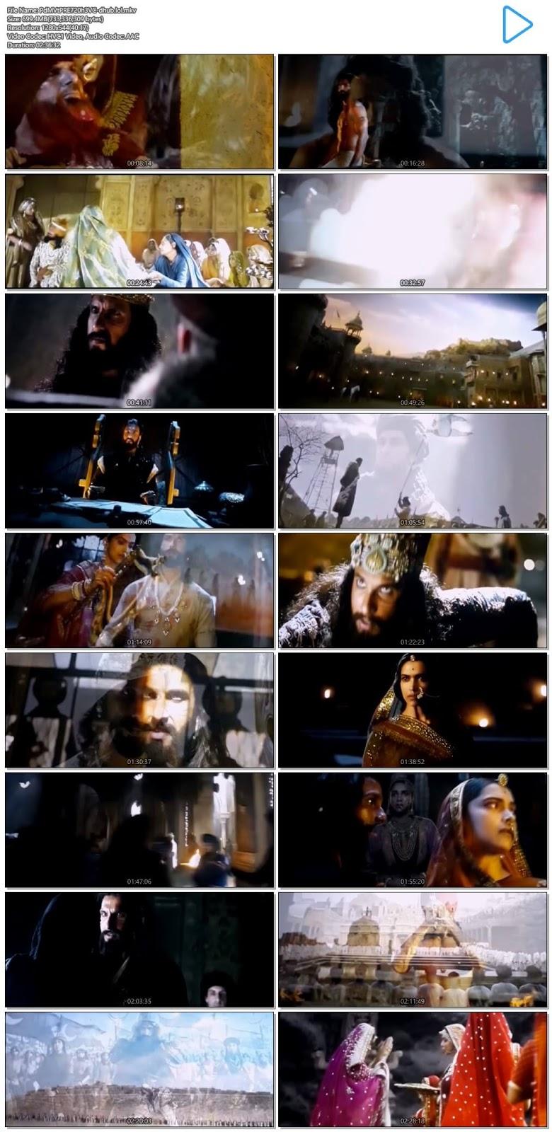 Padmaavat 2018 Hindi 720p HEVC Pre-DVDRip