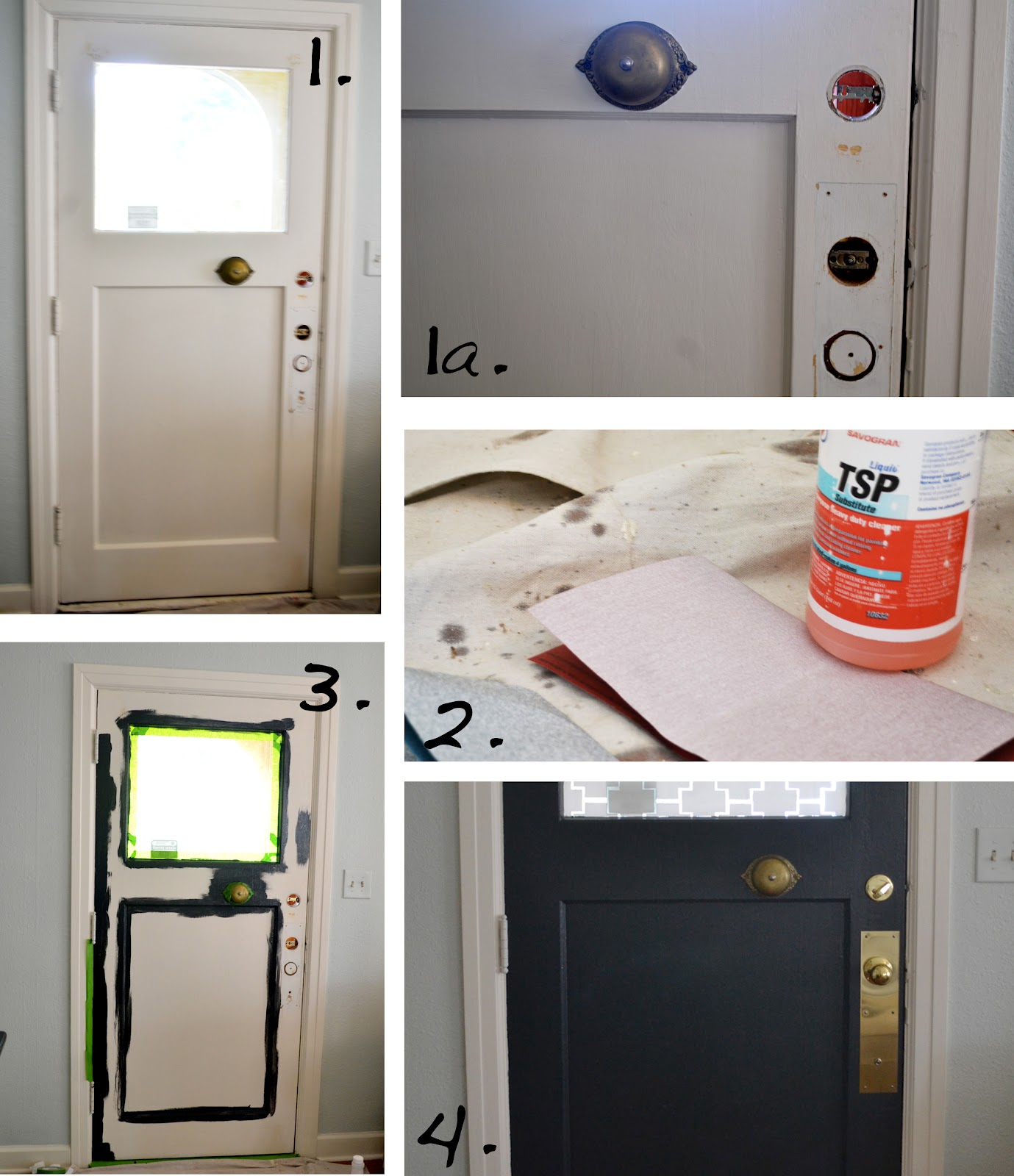 A Home In The Making: {renovate} Painted Interior Front Door
