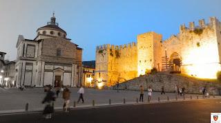 Veduta di Piazza delle Carceri in Notturna