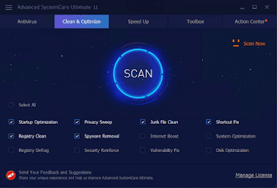 Screenshot IObit Advanced SystemCare Ultimate Pro 11.0.1.59 Full Version